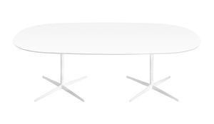 コンテンポラリー会議用テーブル / MDF / 丸形 / 楕円形