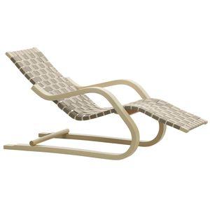 コンテンポラリー長椅子 / 麻製 / 湾曲木製 / カバノキ材製