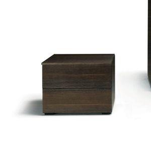 コンテンポラリーベッドテーブル / オーク材 / クルミ材 / 長方形