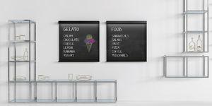 壁掛け式展示用ラック / 金属製 / ガラス製 / 店用