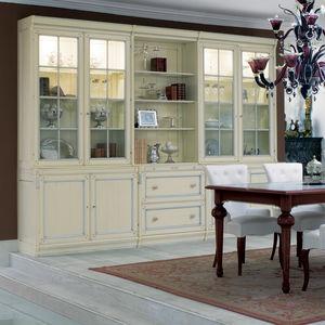 クラシック食器棚 / 漆木材