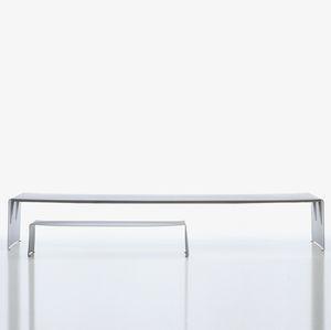 コンテンポラリー食卓テーブル / 漆塗りアルミニウム製 / 長方形 / ガーデン用
