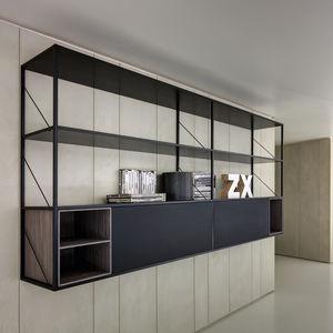 壁掛け式棚 / モジュール式 / コンテンポラリー / アルミニウム