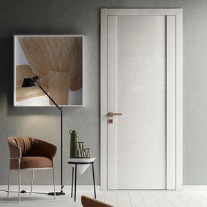 室内ドア / スイング式 / ガラス製 / ラミネート状
