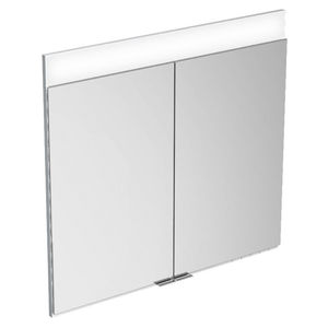 コンテンポラリーバスルームキャビネット / 金属製 / 壁上 / ミラー付