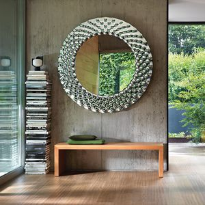 壁掛け鏡 / コンテンポラリー / 長方形 / 円形