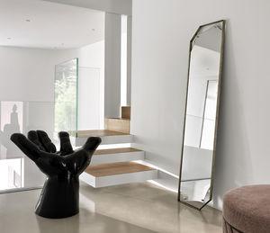壁掛け鏡 / 全身 / 吊り下げ型 / コンテンポラリー