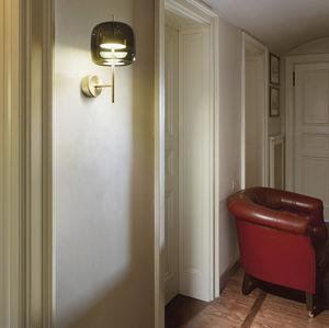 コンテンポラリー壁面ライト / 吹きガラス製 / LED / ゴールド