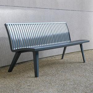 公共ベンチ / コンテンポラリー / 金属製 / 背もたれ付き