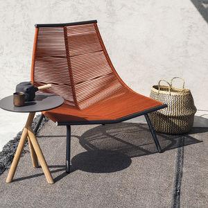 コンテンポラリー安楽椅子 / ステンレススチール製 / ポリエステル製 / 高背もたれ付
