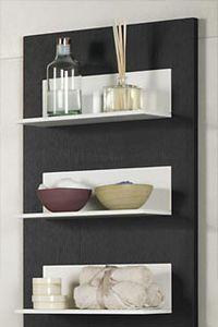壁掛け棚 / コンテンポラリー / 漆木材 / バスルーム用