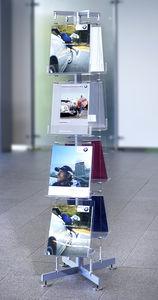 カタログ用展示用ラック / ステンレススチール製 / アクリル製 / 店用