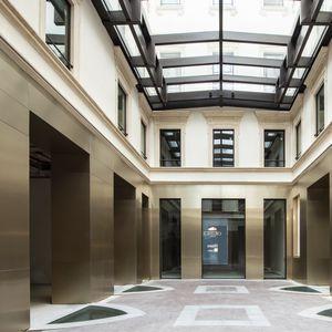 コーティングパネル / 陽極酸化アルミ製 / 壁掛け式 / 建物用