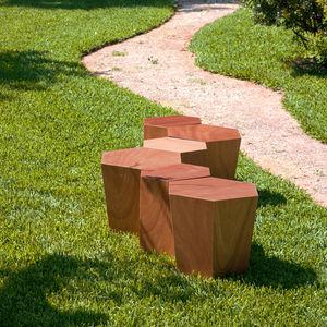 コンテンポラリースツール / 木製 / 石灰岩 / モジュール式