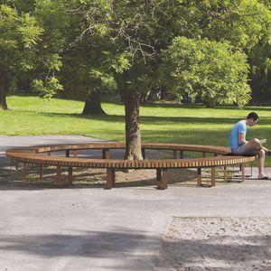 公共ベンチ / コンテンポラリー / 木製 / スチール製