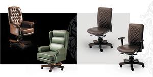伝統的なデザインの社長椅子