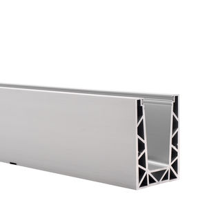 アルミ製固定システム / 屋内用 / 建物の正面用 / ガラス製ファサード用