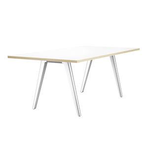 コンテンポラリー会議用テーブル / 木製 / ラミネート状 / アルミ製