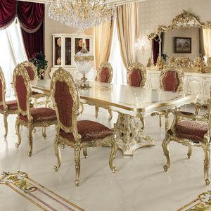 クラシック食卓テーブル / ソリッド ウッド製 / 無垢木材製 / 長方形