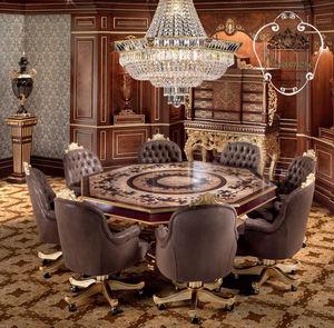 クラシックテーブル / ソリッド ウッド(無垢材) / 無垢木材製 / 八角形