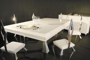 クラシック食卓テーブル / 木製 / アルミニウム製 / 長方形