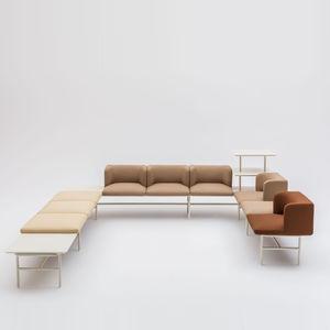 モジュール式ソファー / コ-ナ-タイプ / コンテンポラリー / 布製