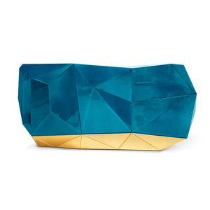 オリジナルデザインサイドボード / 漆木材 / 金箔付き木 / 青