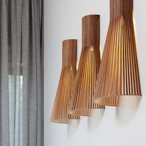 コンテンポラリー壁面ライト / クルミ材 / カバノキ材製 / LED