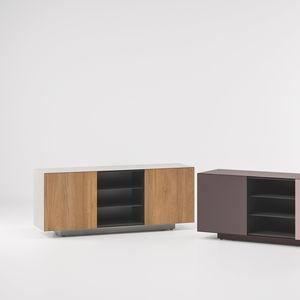 コンテンポラリーサイドボード / チーク材 / アルミ製 / 庭用