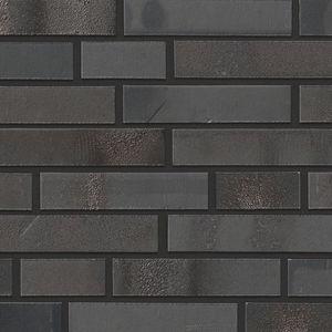 クリンカー製クラッディングレンガ / 建物の正面用 / 黒