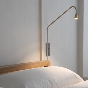 コンテンポラリー壁面ライト / 真ちゅう製 / LED / IP40