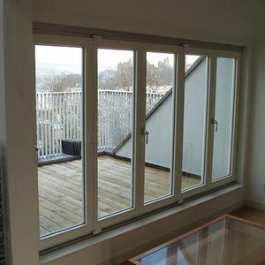 室内ドア / 折たたみ式 / 木製 / ガラス