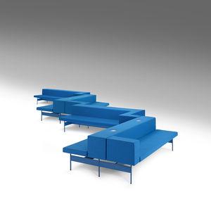 モジュール式布張りベンチ