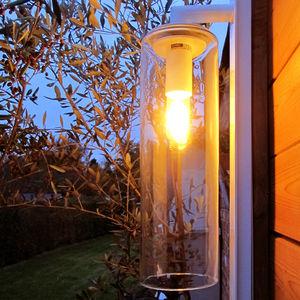コンテンポラリー壁面ライト / ガーデン用 / アルミ製 / ガラス製