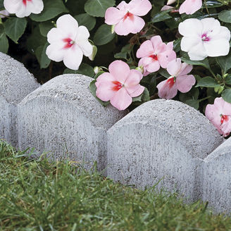 ガーデン用縁石 / コンクリート製 / リニア / 湾曲