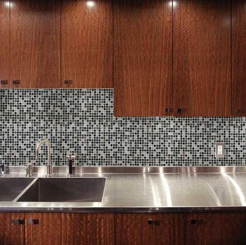 屋内用モザイク / キッチン / 床 / 花崗岩製