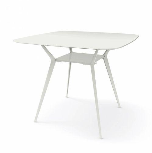 コンテンポラリーバーテーブル / MDF / アルミ製 / 四角形