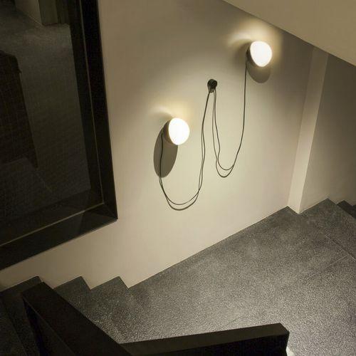 コンテンポラリー壁面ライト / 吹きガラス製 / LED / 円形