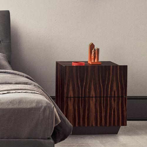 コンテンポラリーベッドテーブル / 黒檀製 / ローズウッド製 / 長方形