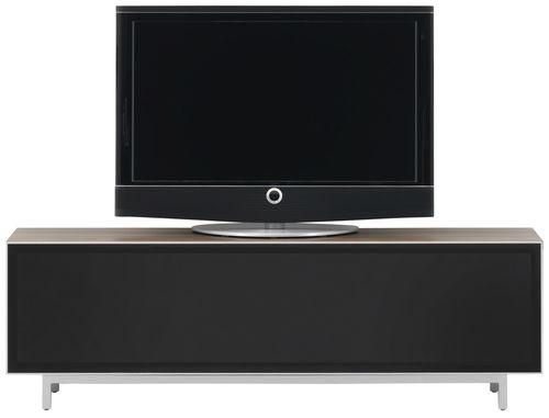 コンテンポラリーテレビキャビネット / 木製 / ガラス製 / スチール製