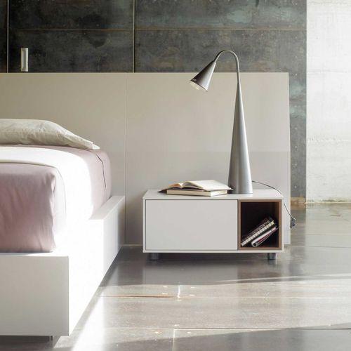 コンテンポラリーベッドテーブル / 木製 / 木製 / 長方形