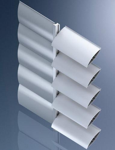 アルミ製日射遮蔽 / 建物の正面用 / 横型 / モーター式方向調節