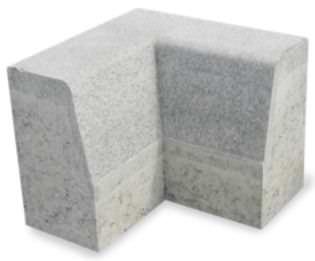 ガーデン用縁石 / 歩道 / コンクリート製 / 角度
