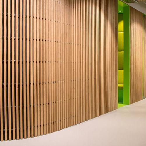 木製ウォールクラッディング / 屋内用 / 音響吸収