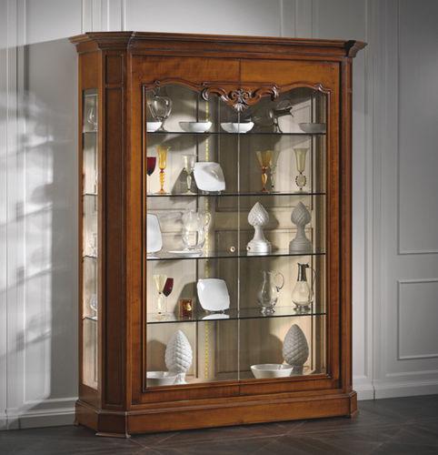 伝統的展示ケース / ガラス製 / トネリコ材 / 桜の木材