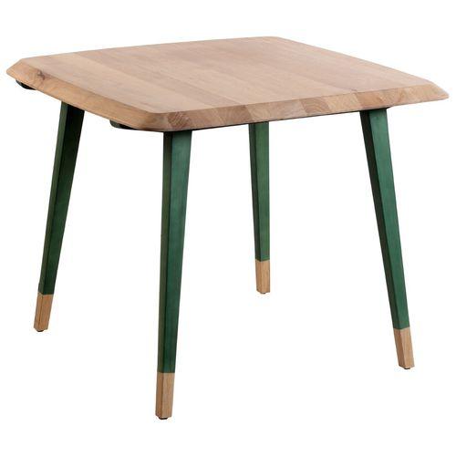 コンテンポラリー食卓テーブル / ソリッド ウッド製 / チーク材 / 四角形
