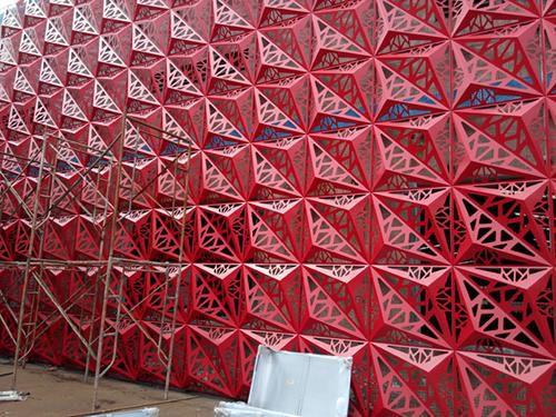 装飾シ-トメタル / アルミニウム製 / 建物の正面用