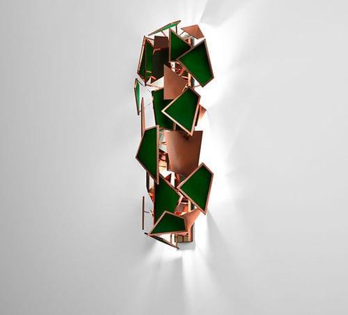 オリジナルデザイン壁面ライト / 銅製 / ポリッシュ銅製 / 布製