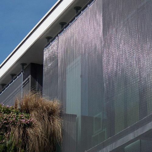手すり用ワイヤーメッシュ / 建物の正面用 / 日射遮蔽用 / ステンレススチール製