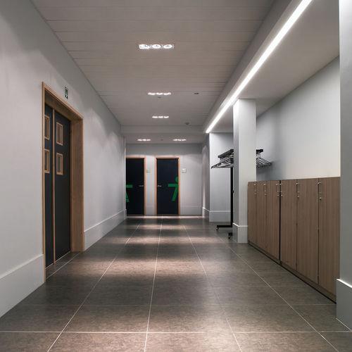 天井埋込形スポットライト / LED / ハロゲン / 四角形